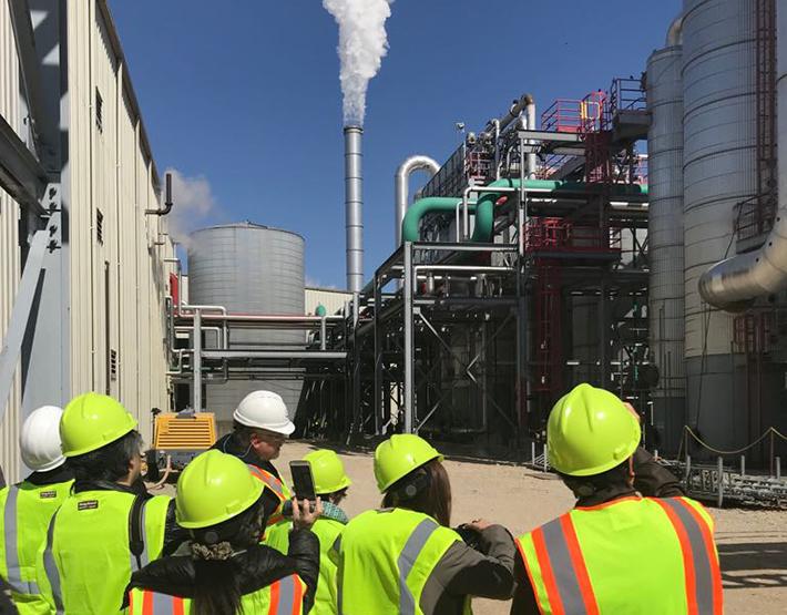 2018 Japan bioethanol media team tours a U.S. ethanol plant.