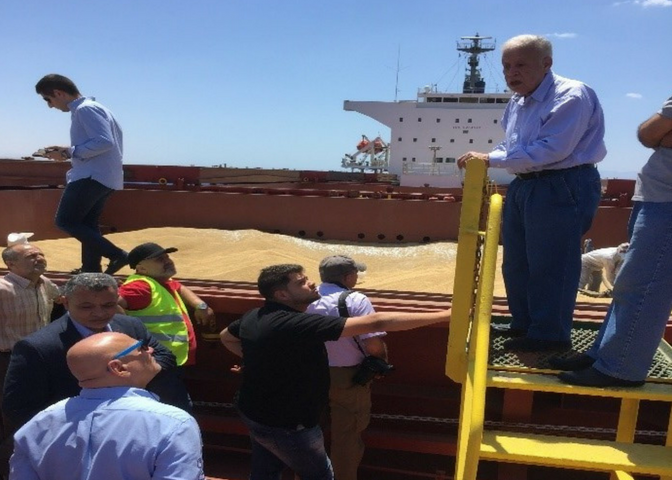 examining vessel of barley
