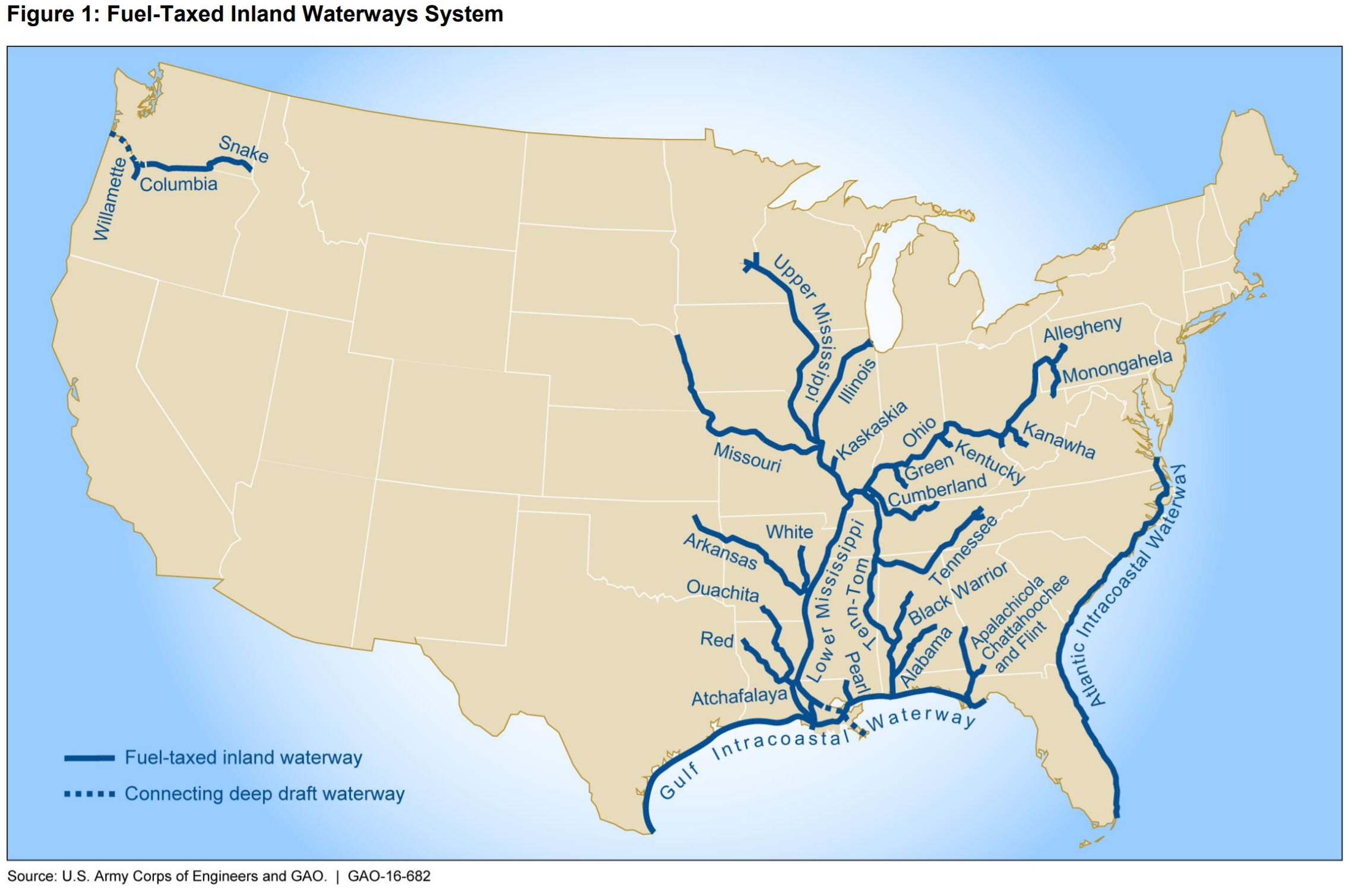 Map Of Inland Waterways In Us Grains Go With The Flow: U.S. Inland Waterway System Operating
