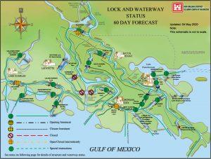 Lock and waterway status