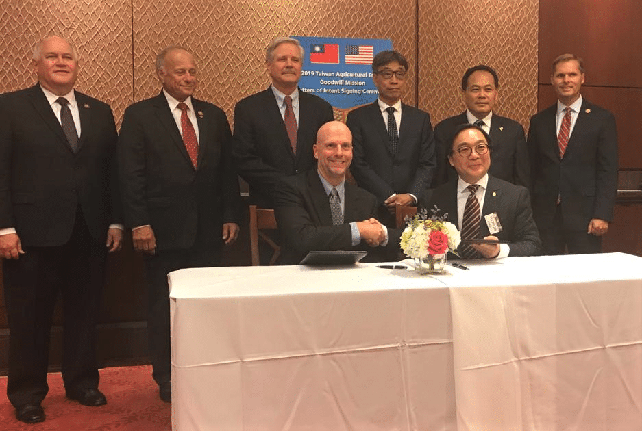 Signing of Goodwill Mission Taiwan