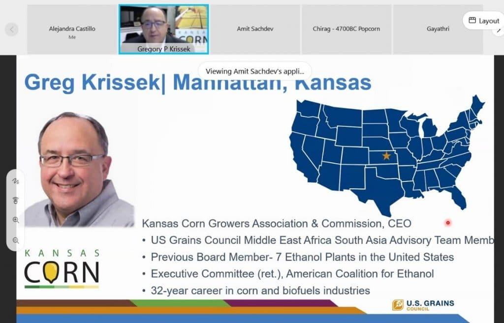 Slide of Greg Krissek Next to Map of U.S.