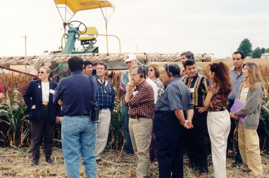 Meeting of People in Grains Field