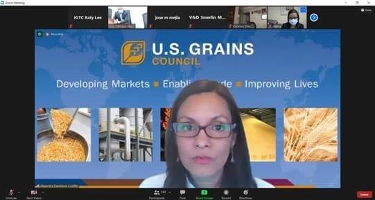Online Zoom U.S. Grains Council Presentation