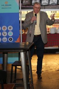 Brian Lohmar giving a speech